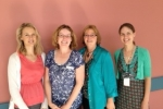 Photograph of Family Matters team - Emma Healey, Rachel Williams, Dr Kathy Tucker and Dr Claire Wakefield