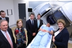 Demonstrating the new linear accelerator in the new radiation oncology area of the NCCC