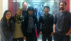 TCRN PhD Students educational tour of cancer wards